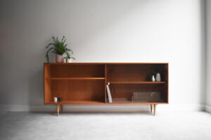 #117 - Mid-century Teak Bookcase with Brass Handle