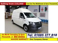 2016 VOLKSWAGEN TRANSPORTER T30 2.0TDI 84PS STARTLINE BLUEMOTION LWB HI TOP VAN