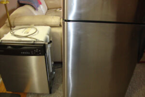 Stainless FRIDGE $140  and Stainless Dishwasher $140.  OBO