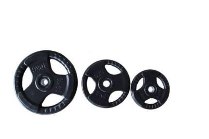 NEW Tri-Grip STANDARD 28mm Rubber Weight Plates - $3 per KG
