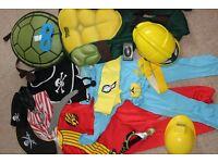 dressing up bundle pirate, ninja turtle 4-6 years
