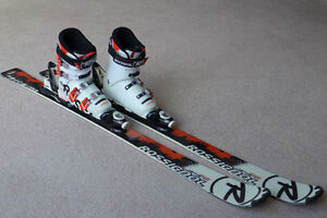 Rossignol skis 130 cm and boots size 22.5 race/high performance