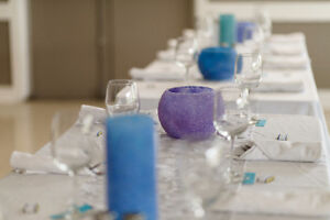 Wedding Decorations - blues/purples