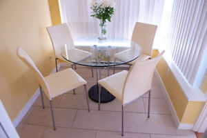 4 Dining Chairs and table Made in Denmark