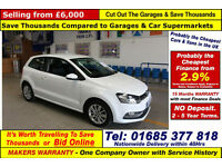 2014 - 64 - VOLKSWAGEN POLO 1.0 SE BLUEMOTION 3 DOOR HATCHBACK (GUIDE PRICE)