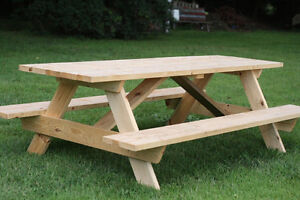 Handcrafted Wooden Picnic Tables