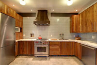 Reclaimed Wood or Solid Wood Cabinets,Doors & Kitchen Islands