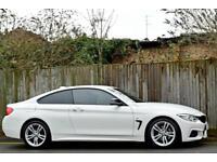 BMW 420d M SPORT 2.0 DIESEL [184BHP] AUTO 2DR COUPE 2014 [14] WHITE