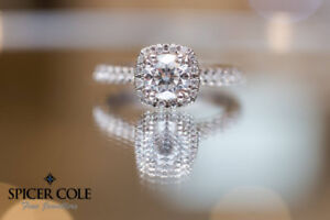 Halo Engagement Ring from Spicer Cole