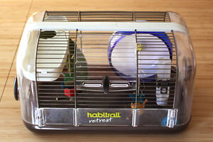 """Habitrail Retreat hamster cage with extra """"Silent Spinner"""" wheel"""