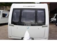 Lunar Clubman SE 2014, 4 berth, end washroom, fixed bed, quality used caravan