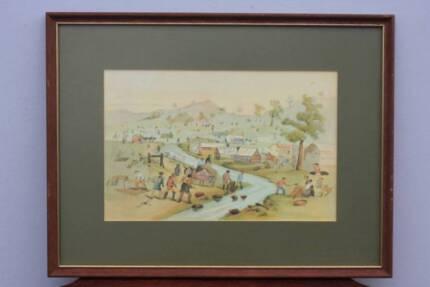 'Sketches of Australian Life & Scenery' - 6 framed prints