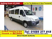2008 - 58 - IVECO DAILY 40C15 3.0HPI 10 SEAT PTS DISABLED ACCESS MINIBUS