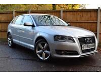 2010 Audi A3 1.6 Sportback Technik SE 76000 Miles £115 A Month £0 Deposit