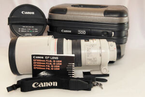 Canon EF 300 2.8 L IS USM with case