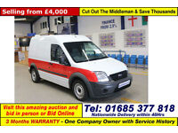 2012 - 62 - FORD TRANSIT CONNECT T230 1.8TDCI 90PS LWB VAN (GUIDE PRICE)
