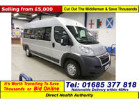 2011 - 61 - CITROEN RELAY 35 L3H2 2.2HDI OH BODY 5 SEAT DISABLED ACCESS MINIBUS