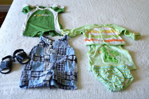 Size 0 - 3 mo. rompers sets for boys, spring and summer, $1.00