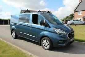 2018 Ford Transit Custom 2.0 EcoBlue 130ps Low Roof D/Cab Limited Van,NO VAT,FSH
