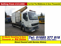 2006 - 56 - DAF LF 45.150 4X2 7.5TON FLATBED VERSALIFT HOIST (GUIDE PRICE)