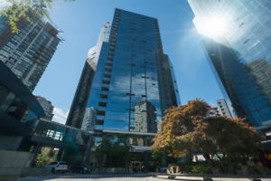 Vancouver Downtown Burrard Studio FURNISHED Unit @ Wall Centre