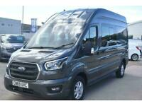 2019 FORD TRANSIT 350 LIMITED 185 7 SEATER L3 H3 GREY DOUBLE CAB CREW VAN NAV RE