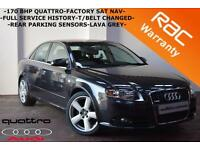 2006 Audi A4 2.0TDI 170bhp quattro S Line -ONLY 87K FULL HISTORY-SAT NAV-CRUISE-