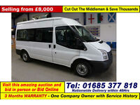 2013 - 13 - FORD TRANSIT T300 2.2TDCI 125PS FWD 9 SEAT MINIBUS (GUIDE PRICE)