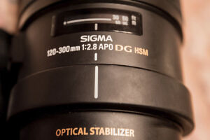 pour Nikon lentille Sigma 120-300 F2,8 EX