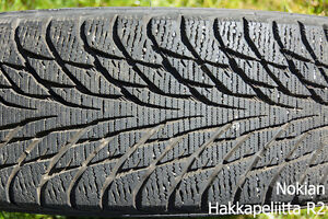(x4) WINTER TIRE - NOKIAN - 205/55/R16 - LOTS OF TREAD Prince George British Columbia image 2