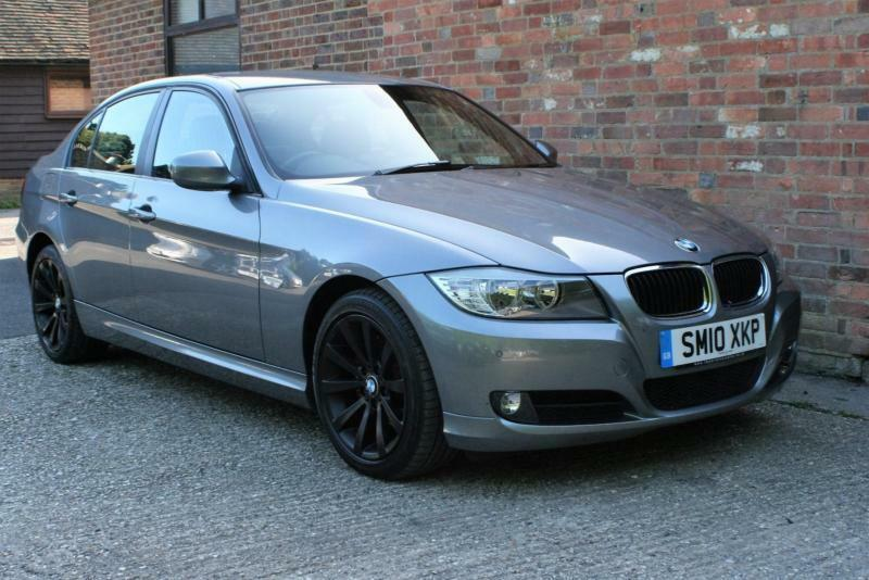 2010 bmw 318d business edition full service history metallic grey black leather in horsham. Black Bedroom Furniture Sets. Home Design Ideas