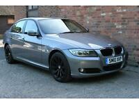 2010 BMW 318D BUSINESS EDITION FULL SERVICE HISTORY METALLIC GREY BLACK LEATHER