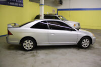 USED 2002 Honda Civic Coupe 2 door SILVER STOCK