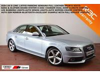 2009 Audi A4 1.8T FSI (160PS) S Line-FULL LEATHER-BLUETOOTH-SAT NAV-LED LIGHTS-