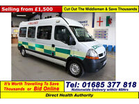 2006 - 06 - RENAULT MASTER LM35 2.5DCI 120PS 6 SEAT DISABLED ACCESS PTS MINIBUS