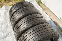 4 Michelin X-ice winter tires 205/55/16 with rims