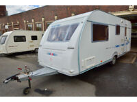 2004 Adria Adora 532 LT 4 Berth Touring Caravan with Side Dinette