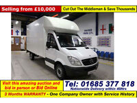 2012 MERCEDES SPRINTER 313 2.2CDI ALLOY BODIES LUTON BOX VAN C/W SLIM JIM LIFT