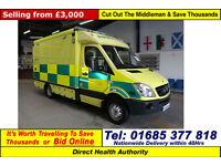 2007 - 57 - MERCEDES SPRINTER 515 2.2CDI AUTO UV MODULAR BODY AMBULANCE / CAMPER