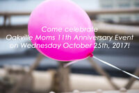 Oakville Moms 11th Anniversary Event on Wednesday October 25th