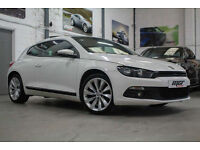 VW Scirocco 2.0 TSI GT, 11 Reg, 77k, Candy White, Truffle Lther, Panoramic Roof.