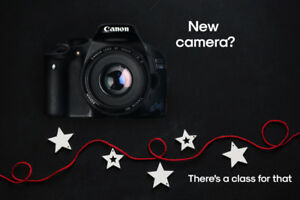 New Camera Photography Class - January, Gift Certs available.
