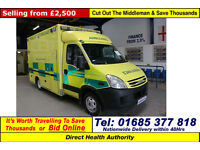 2008 - 08 - IVECO DAILY 50C18 3.0 WILKER BODY AMBULANCE / CAMPER (GUIDE PRICE)