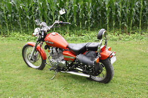 2005 Honda Rebel 4692 miles. Candy Orange