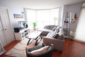 Whitby 2 bedroom waterfront condo for Lease. Close to GO and 401