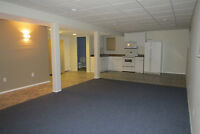 Large bright 1 bedroom basement suite for rent