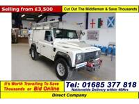 2010 - 10 - LAND ROVER DEFENDER 110 2.4TDCI 4X4 HARD TOP (GUIDE PRICE)