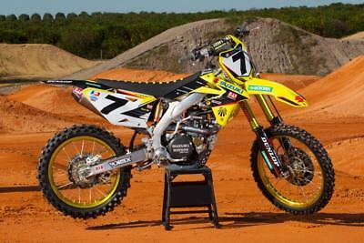 Yoshimura Suzuki AMA graphics kit RM 125 250 2001 - 2012 James Stewart Motocross