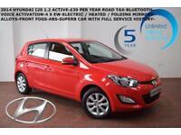 2014 Hyundai i20 1.2 (85ps) Active-BLUETOOTH-£30 ROAD TAX-WARRANTY TO 2019!!!!