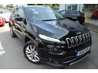 2015 Jeep Cherokee 2.0 CRD Limited 4WD 5dr Diesel black Automatic